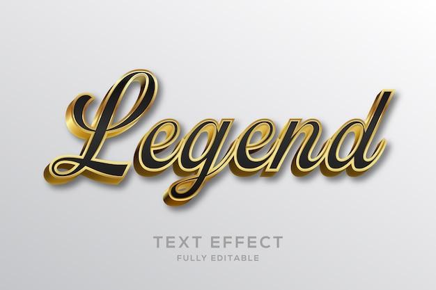 Efeito de texto luxuoso em preto e dourado