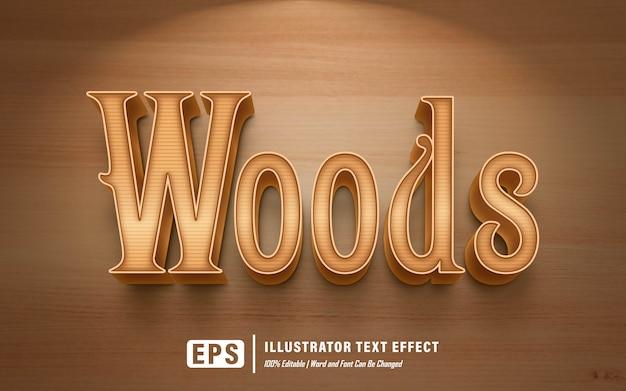 Efeito de texto madeiras - editável