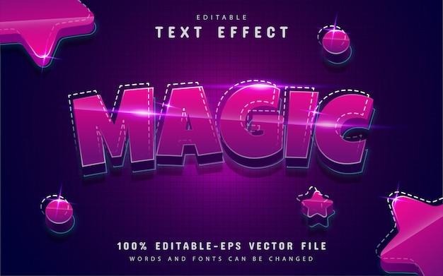 Efeito de texto mágico editável