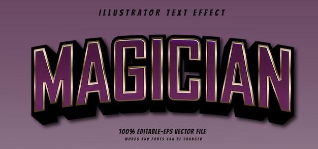 Efeito de texto mágico