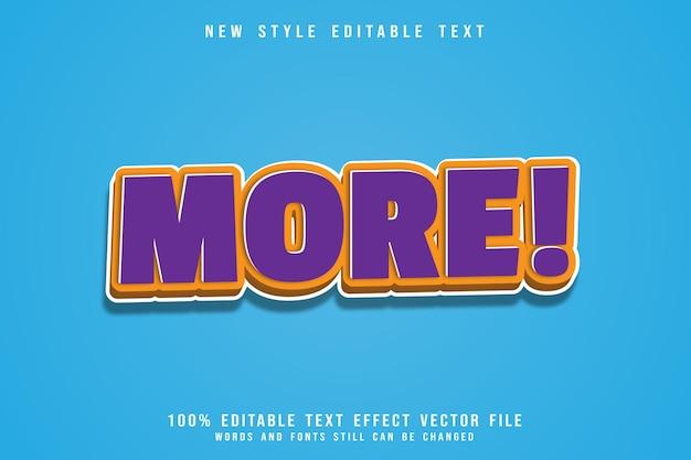 Efeito de texto mais editável em relevo estilo moderno