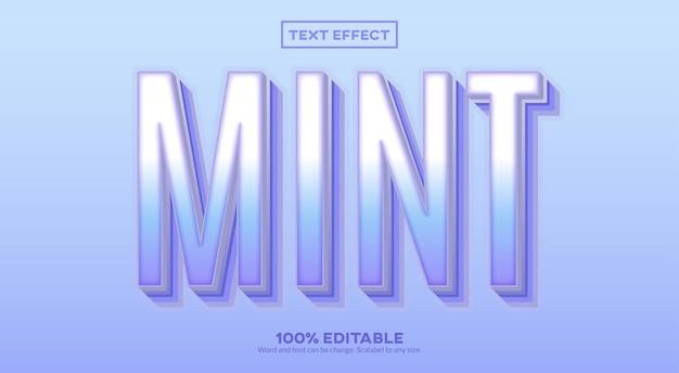 Efeito de texto menta
