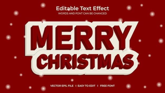 Efeito de texto merry cristmas