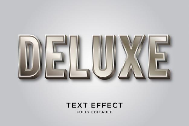 Efeito de texto metálico brilhante
