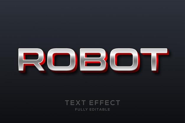 Efeito de texto metálico moderno futurista