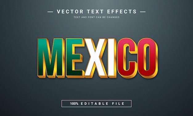 Efeito de texto mexicano