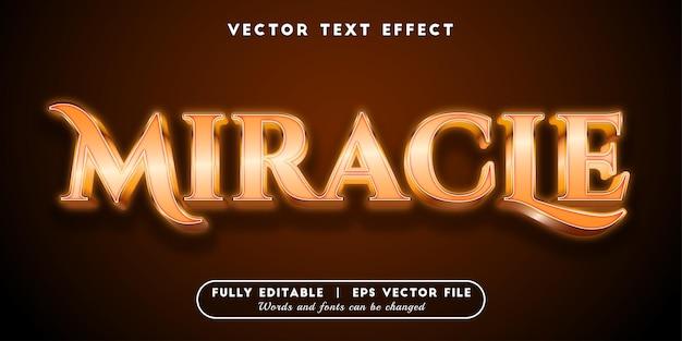 Efeito de texto milagroso, estilo de texto 3d