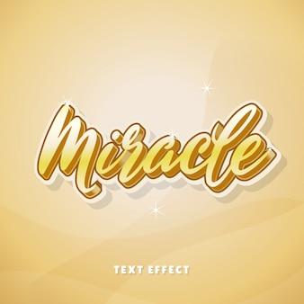 Efeito de texto miracle gold