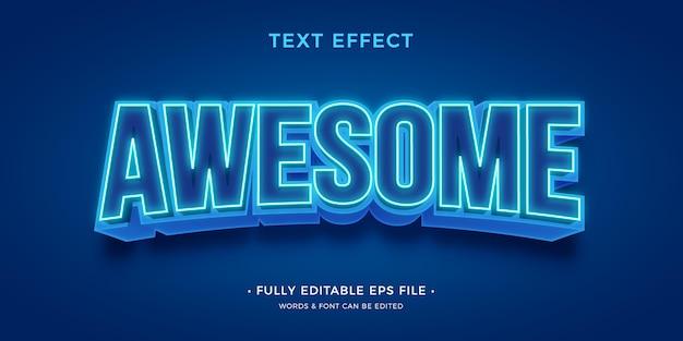 Efeito de texto moderno e brilhante