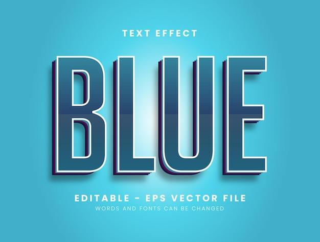 Efeito de texto moderno em azul escuro