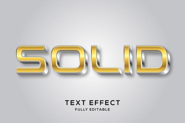 Efeito de texto moderno em ouro e prata