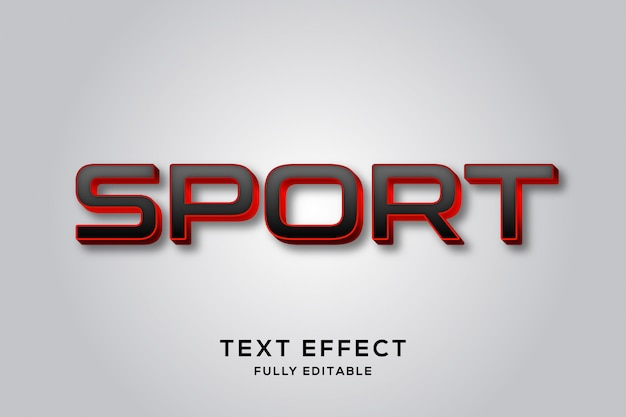 Efeito de texto moderno em preto e vermelho