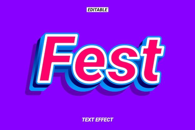 Efeito de texto moderno em vermelho e azul