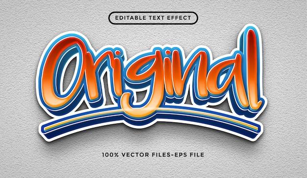 Efeito de texto moderno estilo graffiti 3d vecto premium