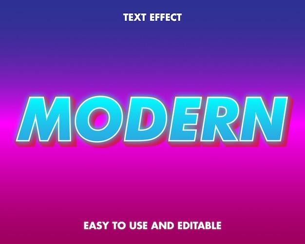 Efeito de texto moderno. fácil de usar e editável. ilustração vetorial. vetor premium