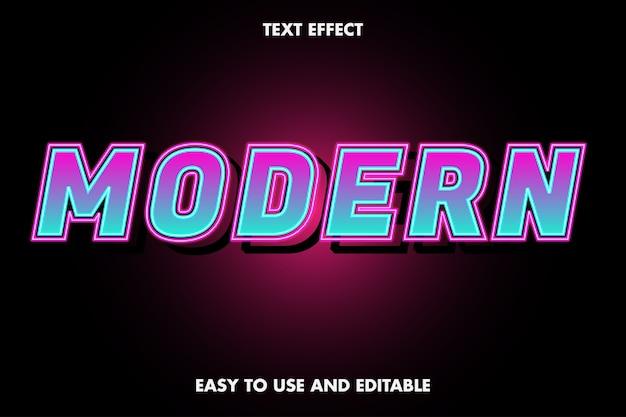Efeito de texto moderno fácil de usar e editável