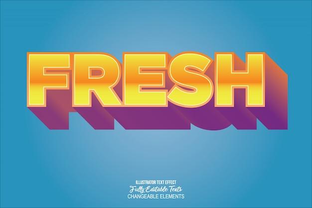 Efeito de texto moderno gradiente colorido detalhado 3d