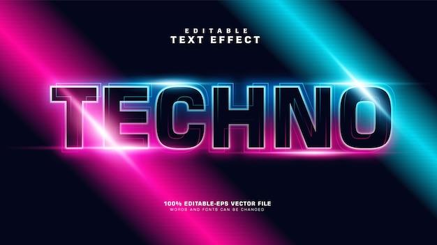 Efeito de texto moderno gradiente techno