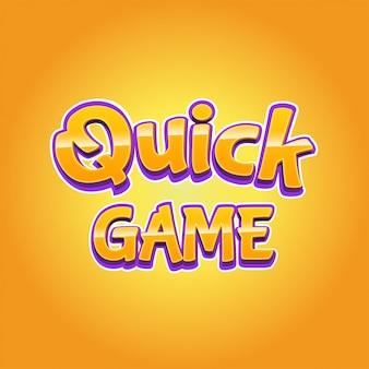 Efeito de texto moderno jogo rápido em estilo 3d