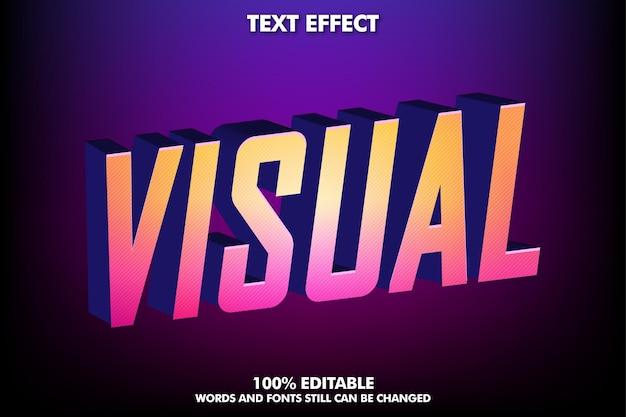 Efeito de texto moderno para design de cultura moderna