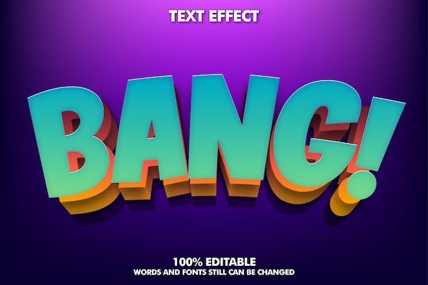 Efeito de texto moderno para título de desenho animado