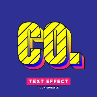 Efeito de texto moderno pop art, texto editável