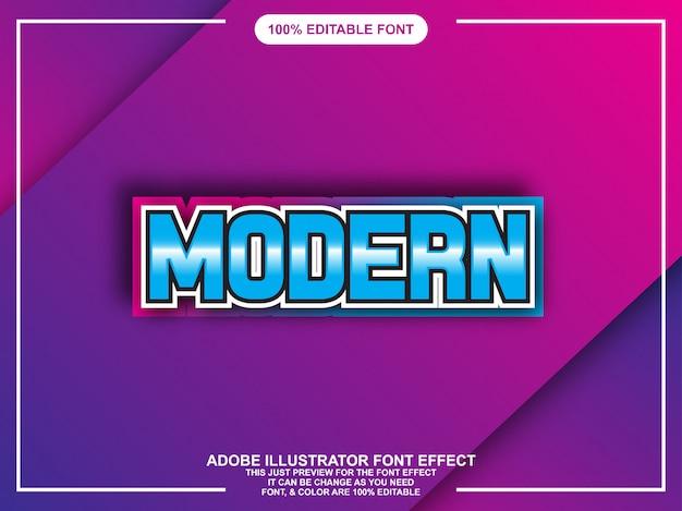 Efeito de texto moderno tipografia editável