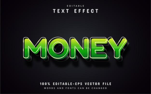 Efeito de texto monetário editável