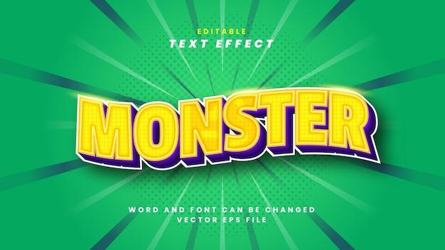 Efeito de texto monstro