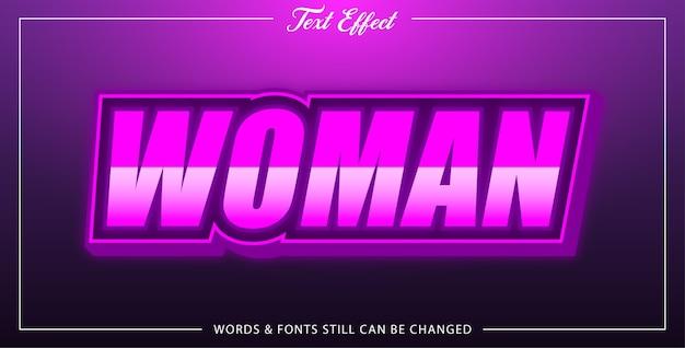 Efeito de texto mulher