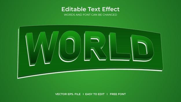 Efeito de texto mundial