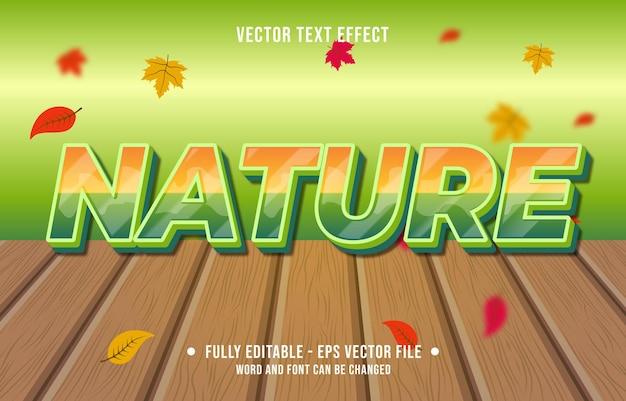 Efeito de texto na natureza, estilo gradiente, temporada de outono, fundo