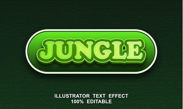 Efeito de texto na selva editável