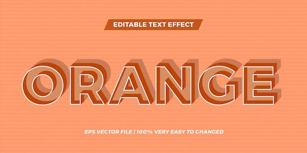 Efeito de texto na sombra laranja palavras texto efeito tema editável conceito retrô