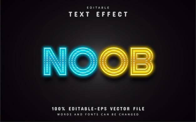 Efeito de texto neon editável