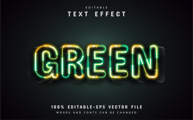 Efeito de texto neon verde