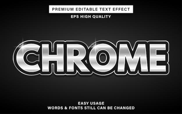 Efeito de texto no estilo chrome