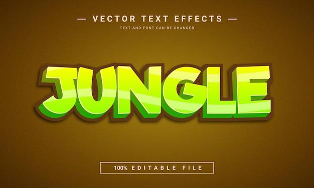 Efeito de texto no estilo desenho animado da selva