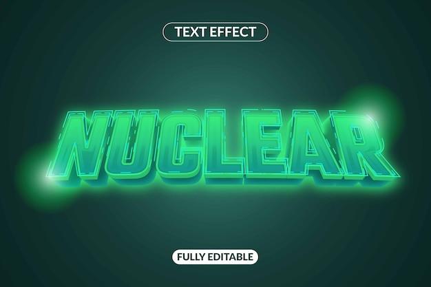 Efeito de texto nuclear efeito de aparência