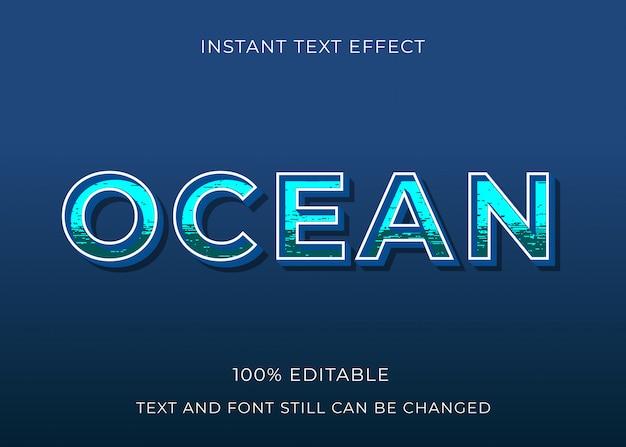 Efeito de texto oceano