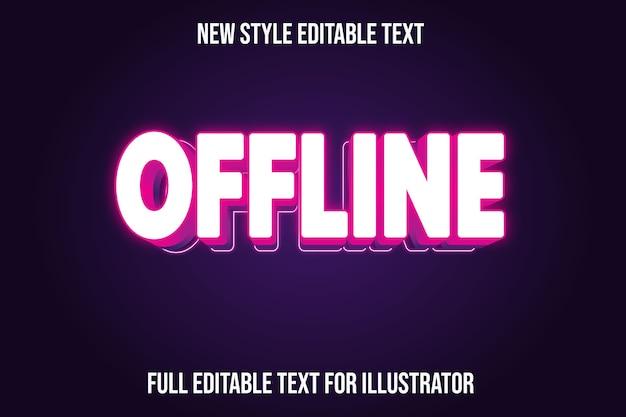Efeito de texto offline cor branco e gradiente rosa