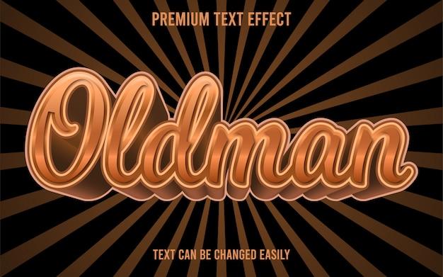 Efeito de texto oldman