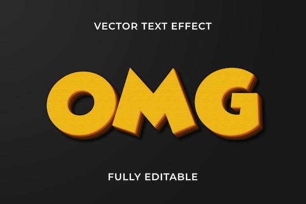 Efeito de texto omg
