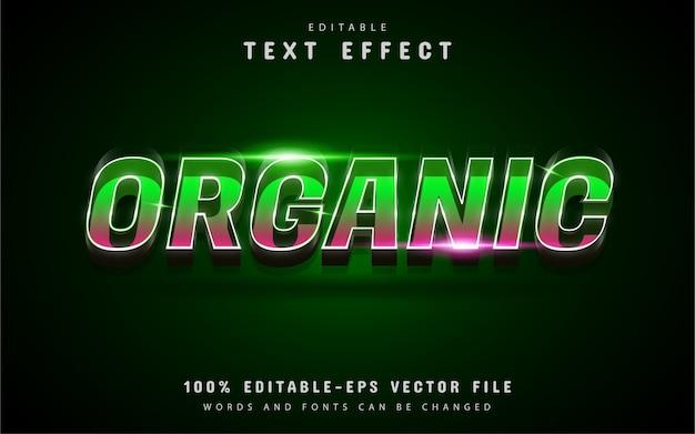 Efeito de texto orgânico com gradiente