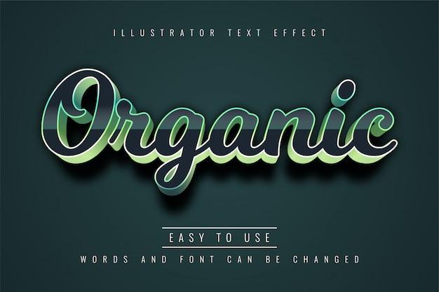 Efeito de texto orgânico