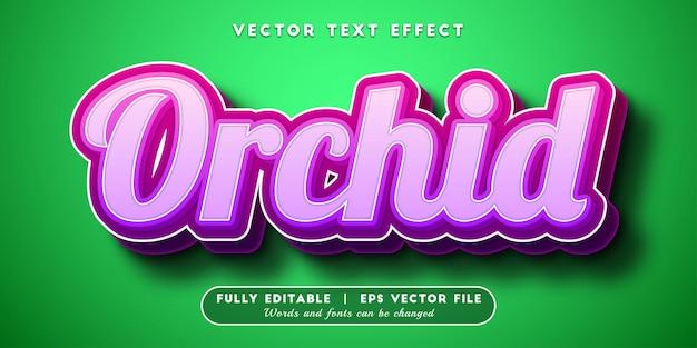 Efeito de texto orquídea com estilo de texto editável