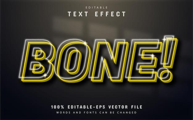 Efeito de texto ósseo editável