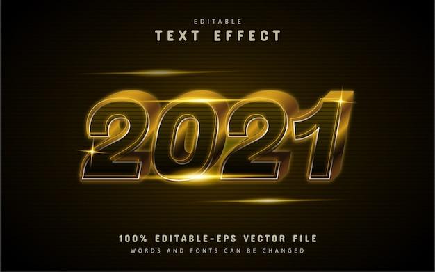 Efeito de texto ouro 2021