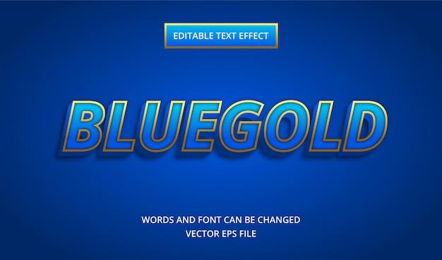 Efeito de texto ouro azul