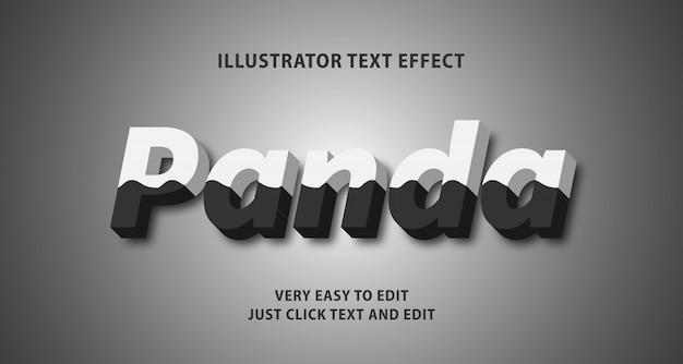 Efeito de texto panda, texto editável
